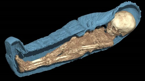 A 3D scan of an ancient mummy. Credit: All3DP.com
