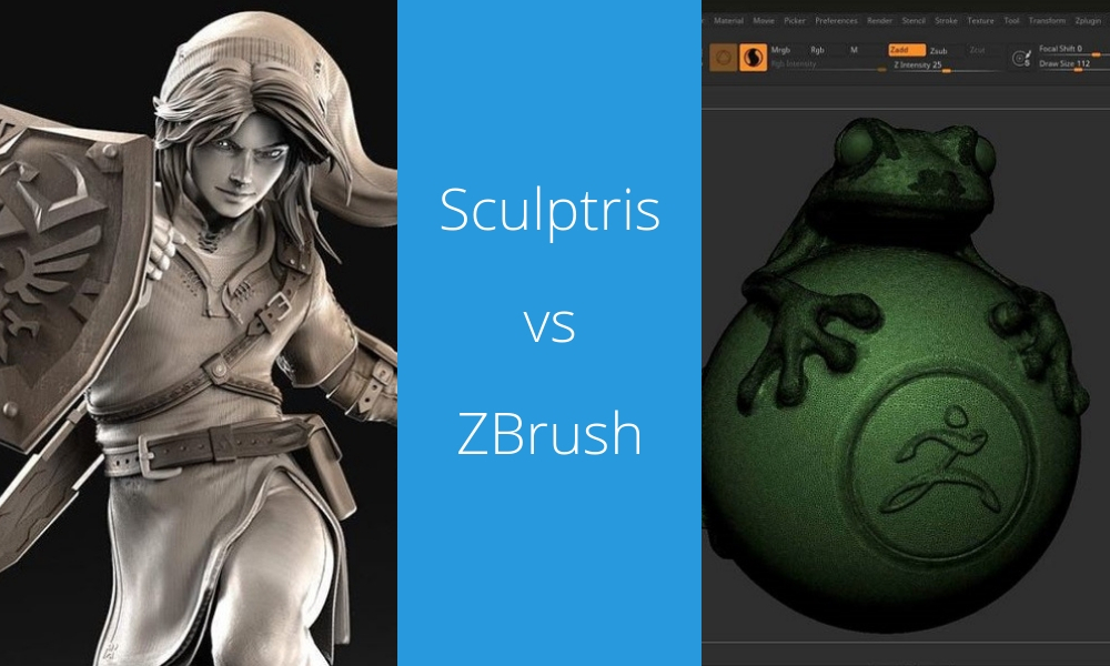 Battle of Software: Sculptris vs ZBrush