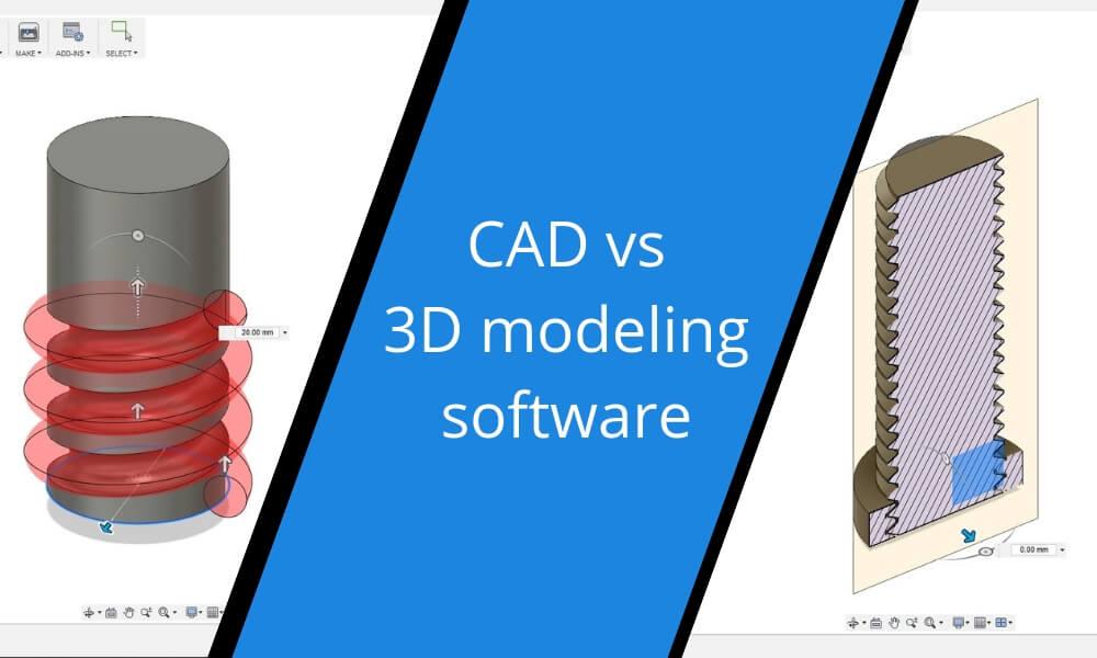 CAD vs 3D modeling: what should you choose?