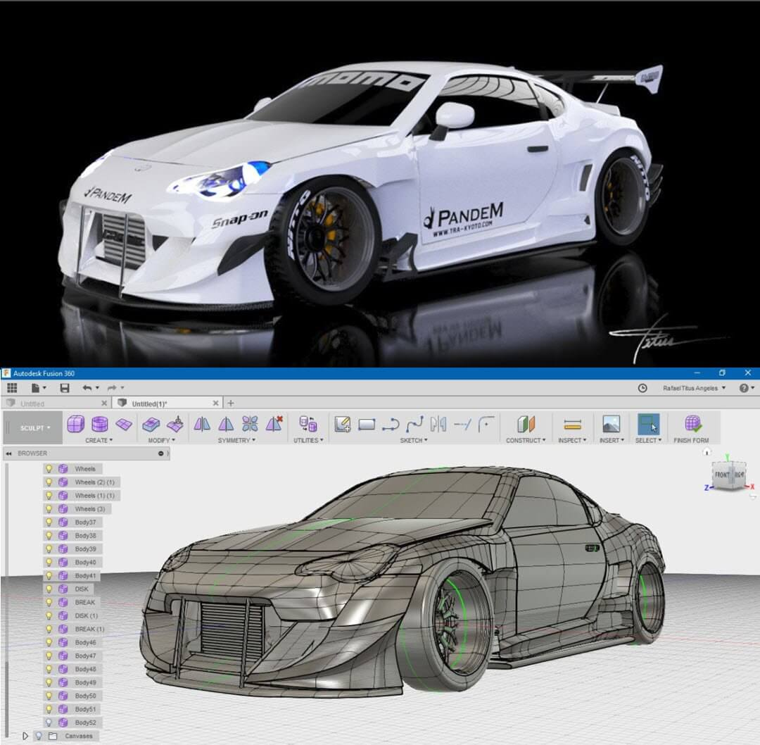 A car designed in Fusion 360 https://twitter.com/adskfusion360/status/966662166953816064