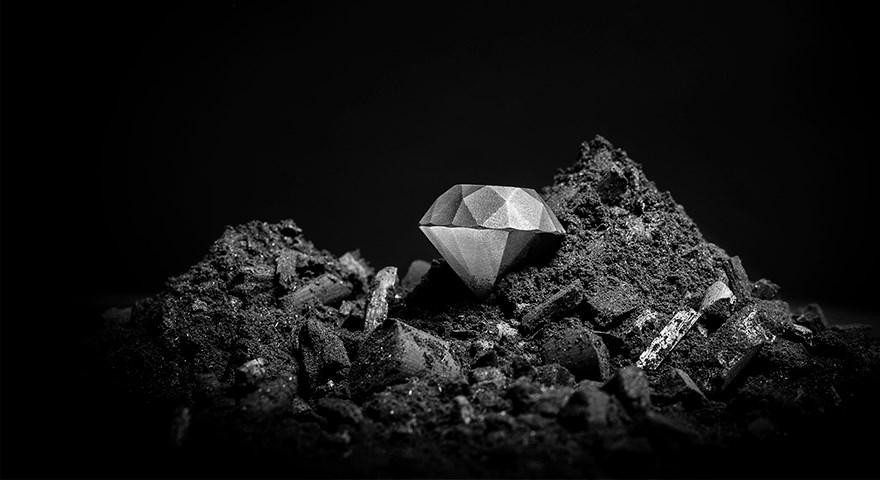 3d printed diamond