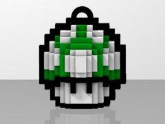 Pixel Art 1-Up Mushroom