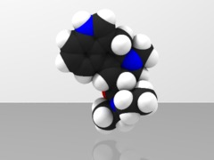 Space-filling molecular model of LSD-25