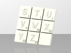 Pions Scrabble lettre S a Z
