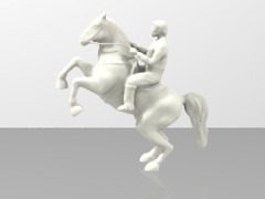 Rearinh Horse and Rider