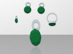 lara emerald jewelry set