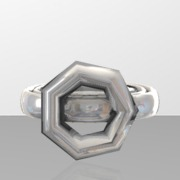 ring base part 1 of ring with realistic gem