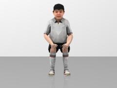 Boy Figure Sitting Position  1/20
