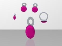lara pink sapphire jewelry set