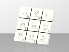 Pions Scrabble lettre J a R