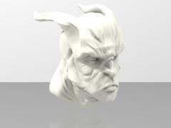Daemon head test sculpt