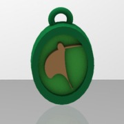 stylised kiwi bird pendant thicker frame and motif