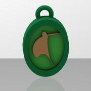 stylised kiwi bird pendant thicker frame and motif