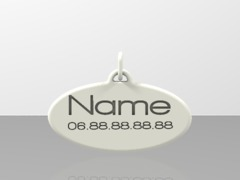 Pendant Simple - Choose name & number