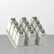 12 boites pour composants CMS
