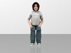 Girl Figure Sitting Position  1/20