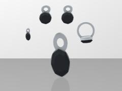 lara onix night jewelry set