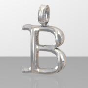 B letter pendant