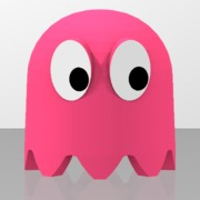 Pac-Man's pink ghost