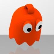 Pac-Man's orange ghost looped