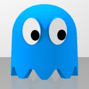 Pac-Man's blue ghost