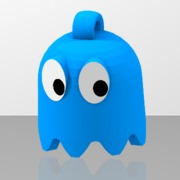 Pac-Man's blue ghost looped