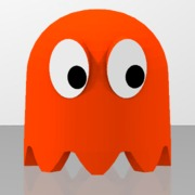 Pac-Man's orange ghost
