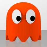 Pac-Man's orange ghost
