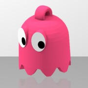 Pac-Man's pink ghost looped