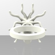 Bague Kraken -print