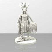 Aztec Warrior Sculpture
