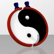 Yin Yang pendentif pour Amoureux