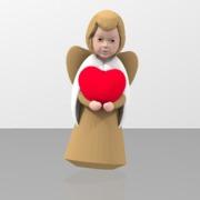 Angel heart sculpture