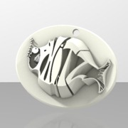 Phitz Coaster, Sculpture, Paperweight, or Pendant
