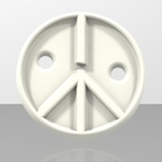 Peace and Love Cloth Button