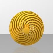 pendentif boule doré