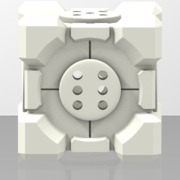 Portal Companion Cube DICE (Hollow)