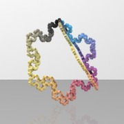 3d_L_system_DickauvonKochFlake_tubes_3rotations