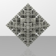 Pyramid Fractal - Six Iterations - Hollow