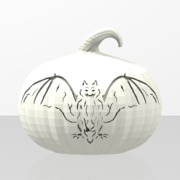 Haloween pumkin Bat