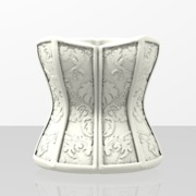 Damask Corset Cup