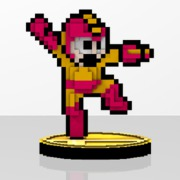 Mega Man Amiibit Figure Atomic Fire