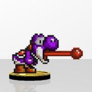 Yoshi Amiibit Figure Purple