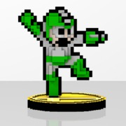 Mega Man Amiibit Figure Leaf Shield