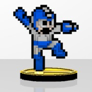 Mega Man Amiibit Figure Air Shooter