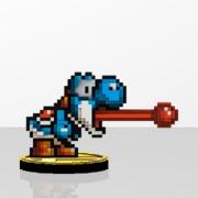 Yoshi Amiibit Figure Blue
