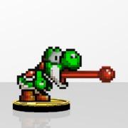 Yoshi Amiibit Figure Green