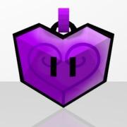 Pendentif Coeur Violet