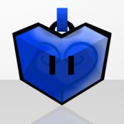 Pendentif Coeur Bleu