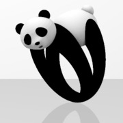 Faby Panda ring - Sz 56